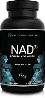 HPN NAD+ Booster – Nicotinamide Riboside Alternative (NAD3) for Men & Women | Anti Aging NRF2 Activator, Superior to NADH ...