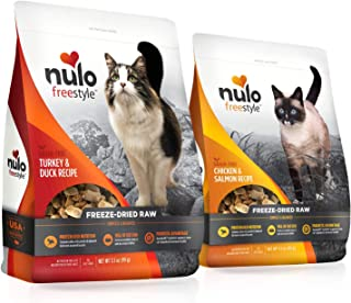 Nulo Freestyle Freeze-Dried Raw Cat Food - Grain Free Cat Food with Probiotics, Ultra-Rich Protein to Support Digestive an...