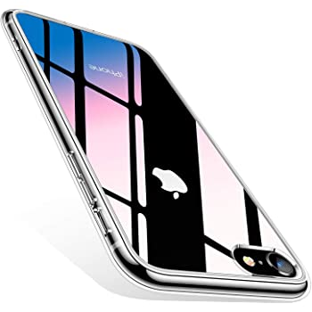 TORRAS iPhone SE ケース [第2世代] iPhone8/7用ケース 強化ガラス 日本旭硝子製(クリア)[ Fancy Series]