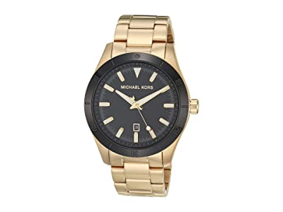 Michael Kors Layton Three-Hand Stainless Steel Watch (Gold) Watches