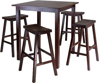 Winsome Parkland 5-Pc High/Pub Table Set, Walnut