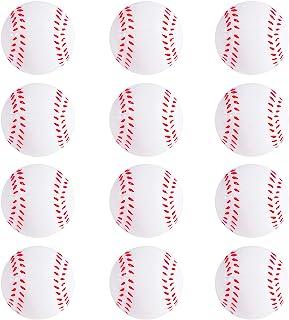 Mini Foam Sports Balls 12 Pack Balls for Kids Adults Mini Baseball Football Basketball Soccer Stress Ball Bulk Toy Little Big Game Party Decoration Balls Small Foam Relaxable Balls (Baseball)