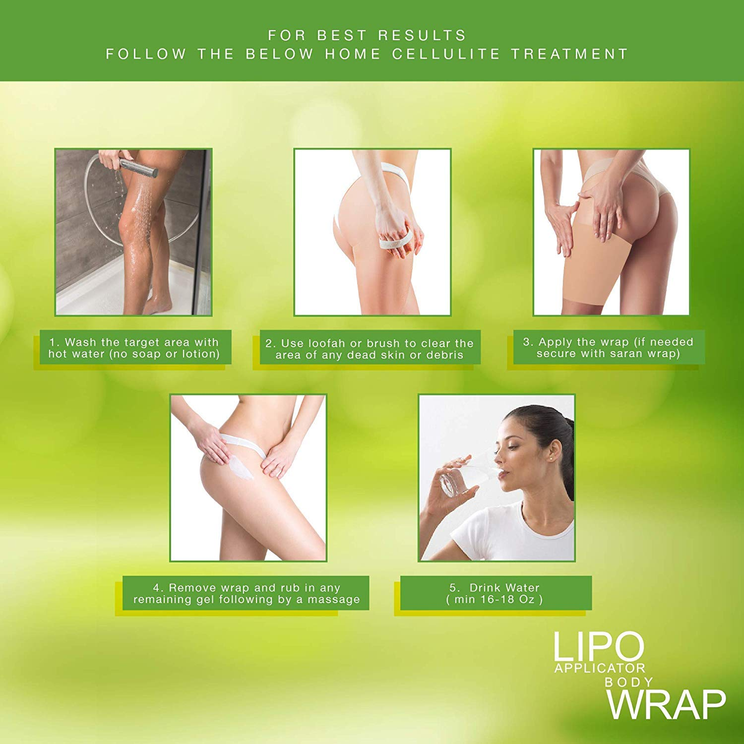 Ultimate Body Applicator Lipo Wrap it Works for for Inch Loss To