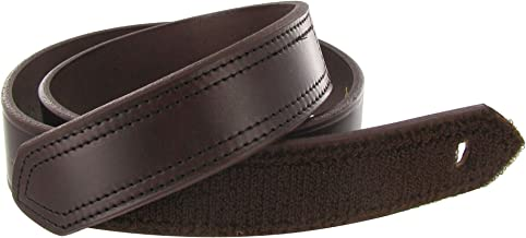 product image for Boston Leather 1.5in. Hook And Loop Tipped Leather Belt 34 Brown