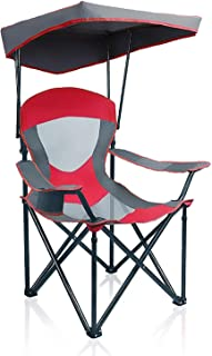 Sponsored Ad - ALPHA CAMP Heavy Duty Canopy Lounge Chair Sunshade Hiking Travel Chair with Cup Holder Enamel Blue