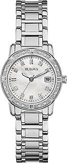 Bulova - Highbridge Diamond - Reloj de Pulsera de Diseño para Mujer - Acero Inoxidable