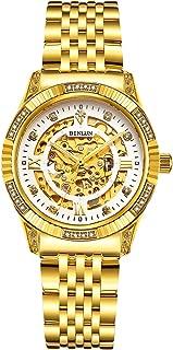 18K Gold Men's Wrist Watch Tourbillon Mechanical Automatic Watches