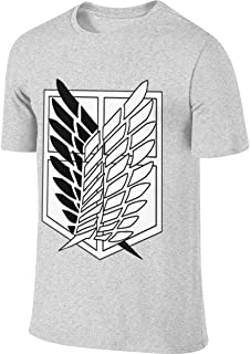 REVESS Man Personalized Classic Tops Anime Attack On Titan Recon Corps Logo T Shirt