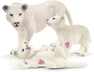 Schleich Farm World Miniature Lionness with Cubs 3-piece Educational Playset for Kids