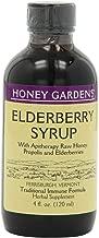 Honey Gardens Elderberry Syrup, 4-Ounce (Pack of 2)