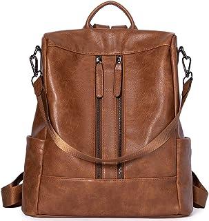 BROMEN Rucksack Damen Anti Diebstahl Rucksack Damenrucksack aus Leder Rucksackhandtasche Tagesrucksack für Frauen Mädchen,...