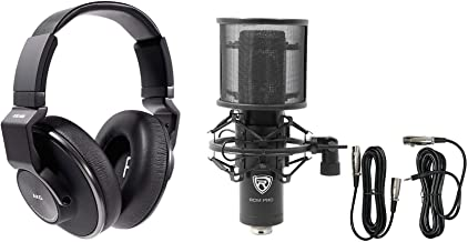 AKG K553 MK2 MKII Studio Monitoring Headphones+Recording Condenser Mic+Filter