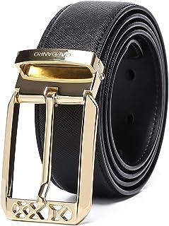 أحزمة جلدية للنساء من CARDANRO سروال جينز قصير مع إبزيم معدني 1.3 بوصة عرض أسود حجم إضافي