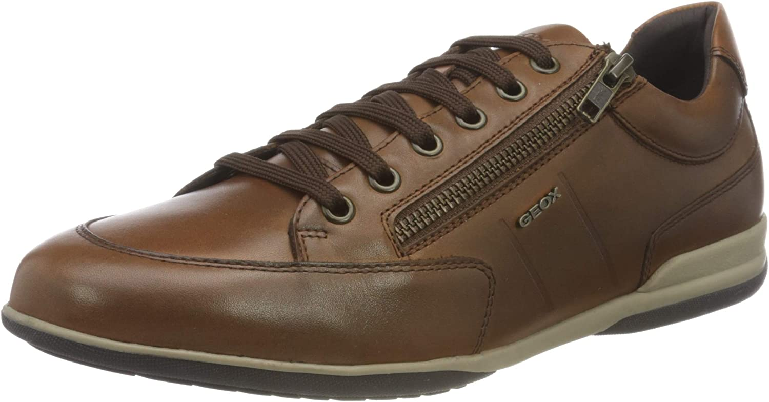 Geox Men's Derby Lace-Up Oxford Flat, Womens 8