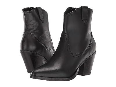 AllSaints Rolene Cowboy Ankle Boot (Black Calf) Women