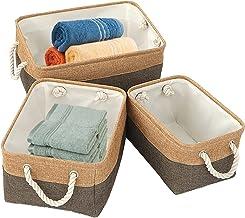 Tenders Kosze do przechowywania, 2, tkanina, biurko, wielofunkcyjne, duża pojemność, brudne pranie domowe, drobiazgi, kosz...