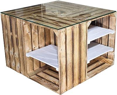 xings huoon Line Mesa Madera sofá Mesa Industrial Salón Mesa 90 x ...