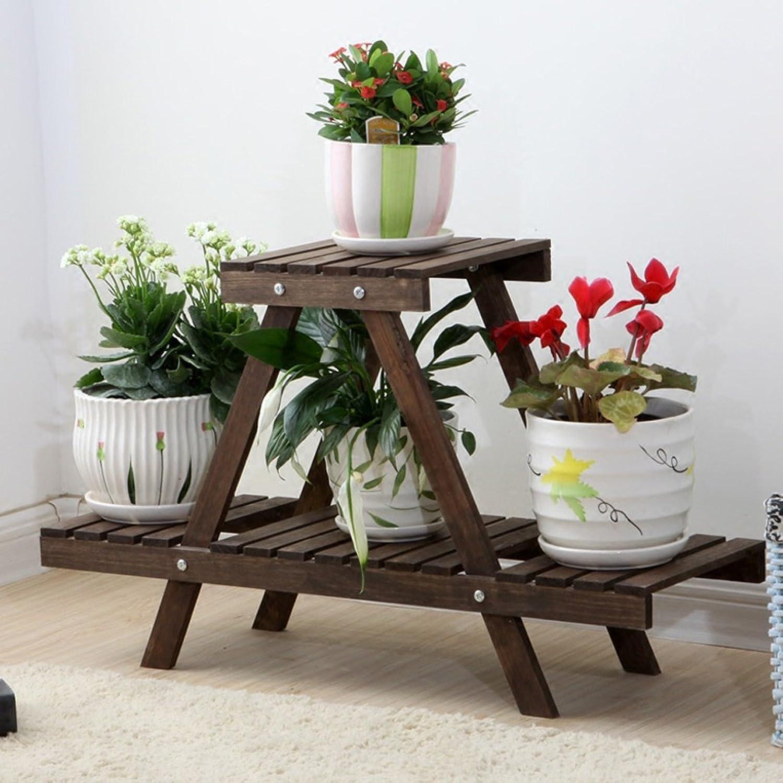 NYDZDM Solid Wooden Shelf Multi-Layer Indoor Outdoor Floor Flower Pot Rack Balcony Shelf (color   B)