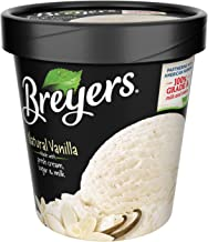 Breyers, Vanilla All Natural Ice Cream, Pint (8 Count)