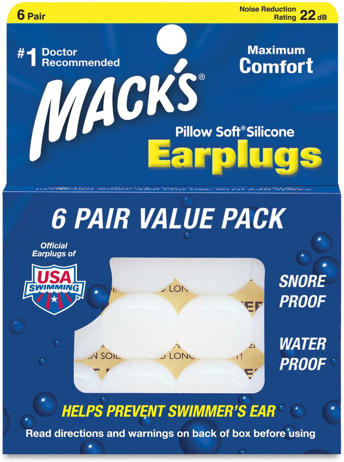 Mack's Pillow Soft Earplugs Value Austin Mall Pack Max 88% OFF Count 48