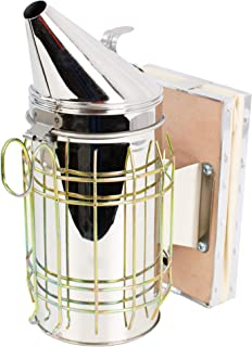 VIVO Large Stainless Steel Bee Hive Smoker with Heat Shield, Beekeeping Equipment BEE-V001L