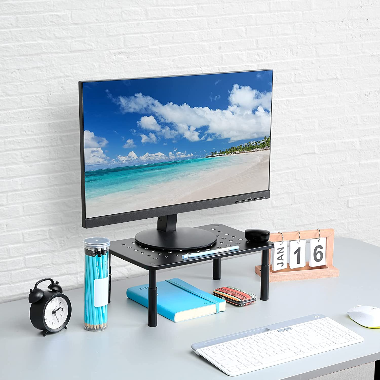Zimilar Monitor Stand Riser, Height Adjustable Monitor Stand for Computer, Laptop, Printer, Notebook, iMac, Premium Metal Monitor Riser (1)