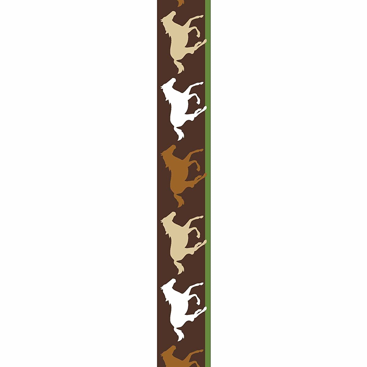 Offray Horse Silohettes Craft Ribbon, 7/8-Inch x 9-Feet, Brown