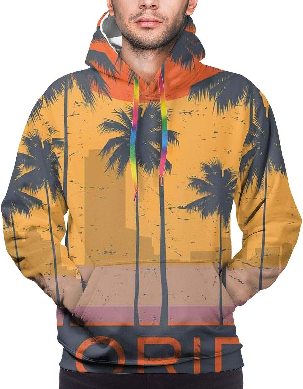Men's Hoodies Sweatshirts,Florals Print of Flower in Watercolor Painting Style Romantic Design Art