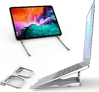 Soporte para ordenador portátil, forma de gafas, plegable y portátil, diseño en ángulo de 18 grados más ergonómico para es...