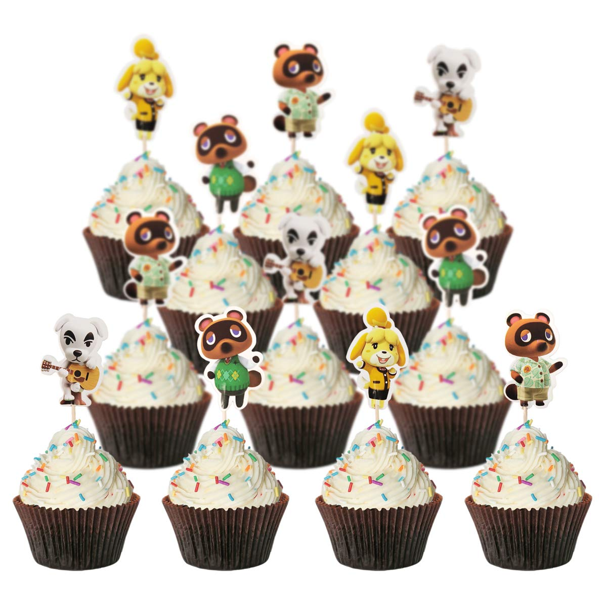 low-pricing Animal Crossing Cake Beauty products topper for birthday cake children's party
