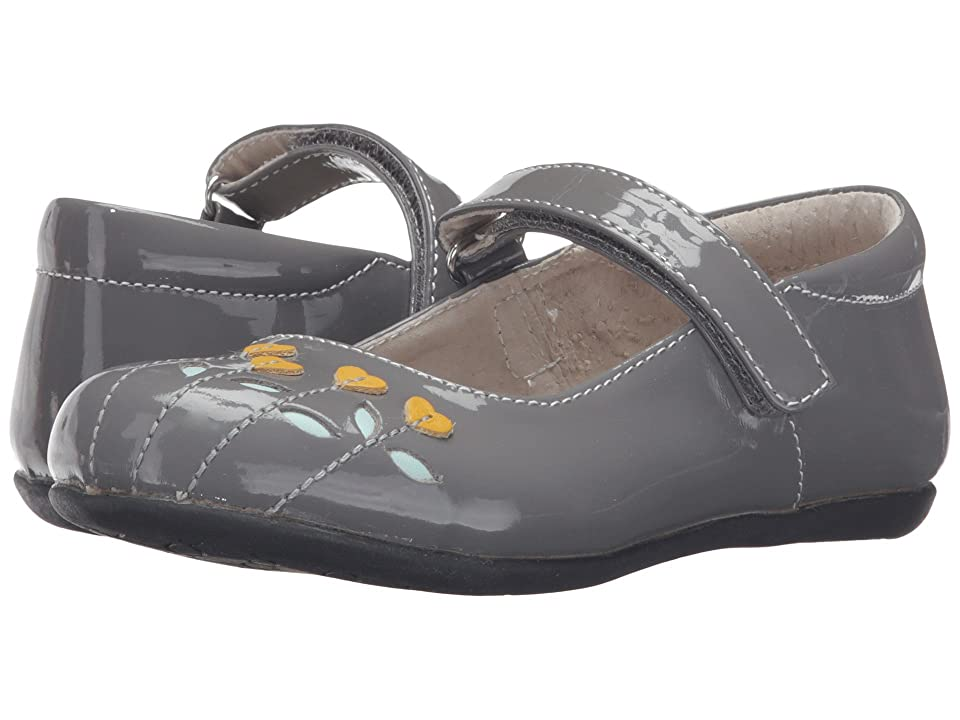 See Kai Run Kids Tricia (Toddler/Little Kid) (Gray Patent/Yellow) Girl