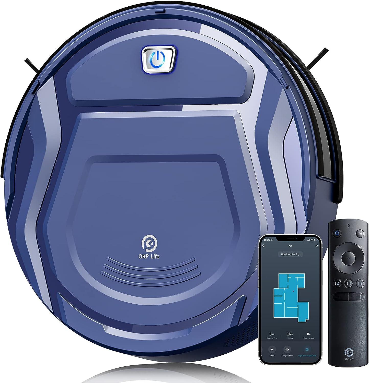famous OKP Life K2 Robot Vacuum 1800 Blue Cleaner New mail order mAh