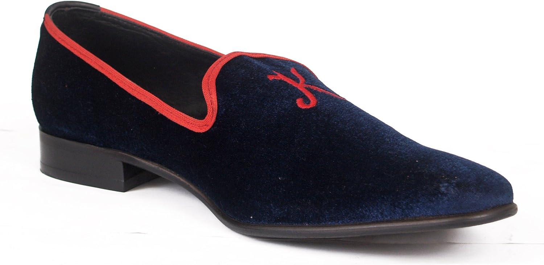 Wallstreet shoes '' Flying Bird '' Pure Velvet Slip ons 41-46(European) CDN 165.00 bluee