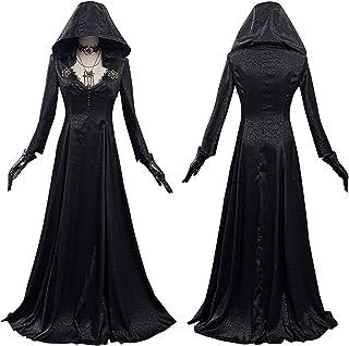 زي تنكري لسيدة مصاص دماء في القرية الشر زي تنكري بدلة هالوين كرنفال (اللون: أنثى، المقاس: L
