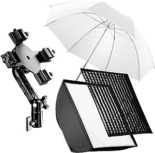 Mega parabólica paraguas reflectante blanco y negro 180cm-Difusor de estudio fotográfico