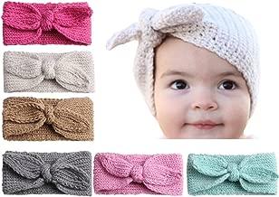 Qandsweet Baby Turban Head Wrap Headbands Girl Knitting Rabbit Ear Hairbands