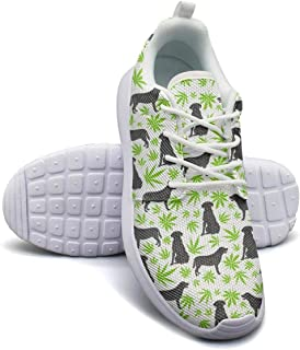 GDDF HXB Sports Running Shoes The Green Purple Pink Leaves Lightweight Shoes Gym Shoes for Women//Girls