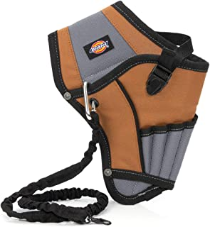 Dickies 5-Pocket Drill Holster with Safety Tether, Universal-Fit Steel Tool Belt Clip