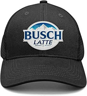 Men's Designer Snapback Hats Busch-Latte-Beer-Logo- Adjustable Sun Cap