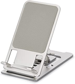 """Super Thin Foldable Cell Phone Stand for Desk, Portable Phone Holder Adjustable Angle for All Phones iPhone Sumsung 6""""- 1..."""