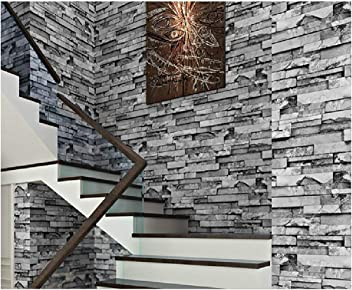 54 Square Ft//Roll Blooming Wall Faux Multicolored Stone Brick Wallpaper Wall Mural for Livingroom Bedroom 80024