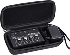 Aproca Hard Carry Travel Case Compatible with Behringer Microamp HA400 Stereo Headphone Amplifier