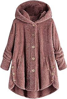 Xmiral Parka Donna Invernale Taglie Forti con Cappuccio Cappotti Donna Peluche Eleganti Termica Orecchio di Gatto