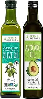 Primal Kitchen 2 Pack Oil - 1 Avocado Oil & 1 Olive Oil - 16.9 oz each