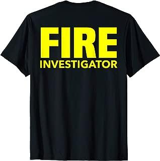 fire investigator shirt