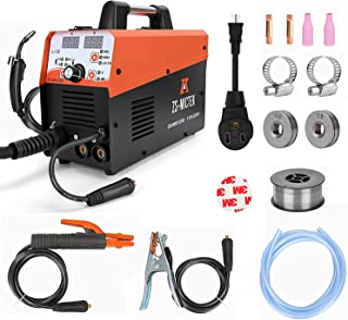 Mig Welder 110&220V Welding Machine Gas/Gasless Flux MIG/Solid Wire/Lift TIG/Stick Multifunction 125A Welding Machine Incl...