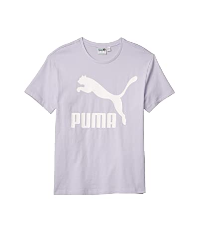 PUMA Classics Logo Tee (Purple Heather) Women