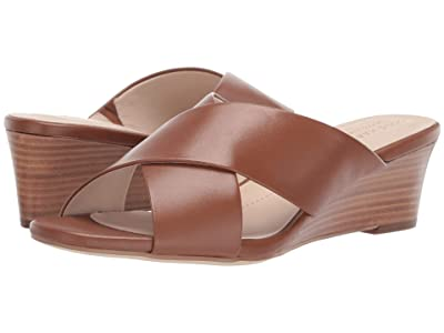 Cole Haan 50 mm Adley Grand Wedge Sandal (British Tan Leather/Dark Natural Stack) Women