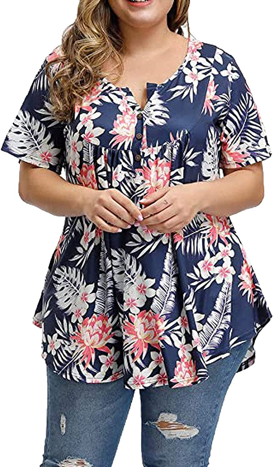 Plus Size Tops Ranking TOP14 for Women Casual Floral P Fashion Tampa Mall T Summer Shirts