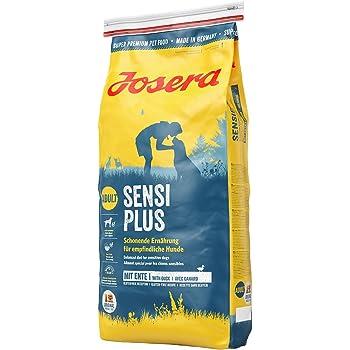 JOSERA SensiPlus, Hundefutter mit Ente für empfindliche Hunde, Super Premium Trockenfutter für ausgewachsene Hunde, 1er Pack, (1 x 15 kg)
